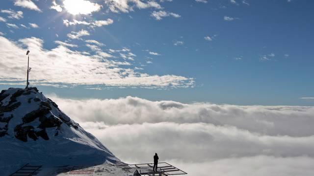 Hanspeter Danuser ist nicht grundsätzlich gegen Olympische Spiele im Bündnerland. (Blick von der Bergstation Corvatsch)