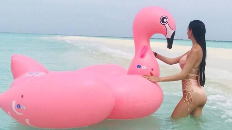 Die Miss Schweiz machte Ferien auf den Malediven.