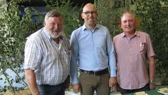 Pilzfreunde unter sich (von links): Oswald Germann, Stefan Müller-Altermatt, Markus Flück