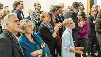 Warten auf die Resultate an den Wahlen 2016 im Grossratskeller – coronabedingt sind heuer keine Gäste zugelassen.
