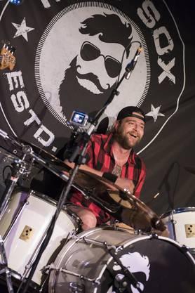 Der Drummer Mike Sutter