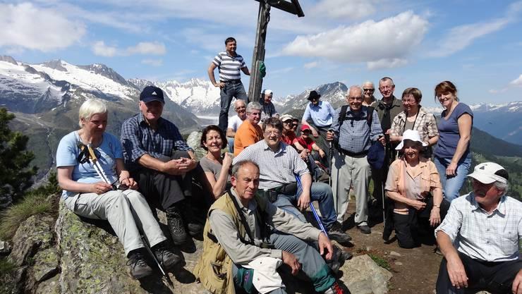 Gruppenbild auf dem Riederhorn 2230m