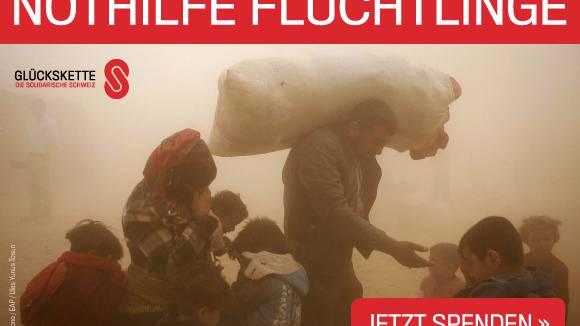 Glückskette sammelt über 7 Millionen Franken für Flüchtlinge