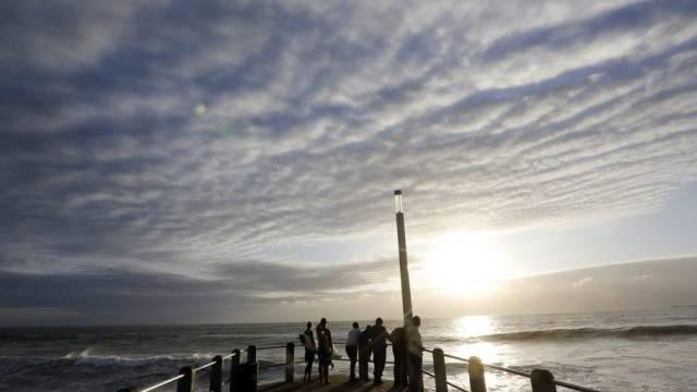 Stürmisches Wetter in der südafrikanischen Küstenstadt Durban