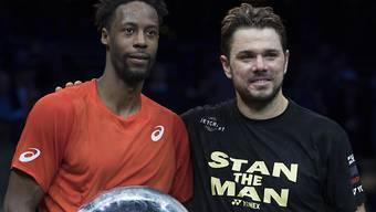 Machen in der Weltrangliste Boden gut: Rotterdam-Sieger Gaël Monfils und sein Finalgegner Stan Wawrinka