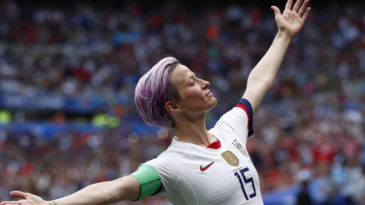 Megan Rapinoe nach ihrem Tor im WM-Spiel gegen die Niederlande.