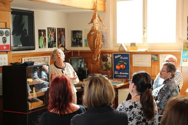 Zigarren-Erbin Monika Villiger begeisterte im Tabakmuseum mit zahlreichen Anekdoten aus der Firmengeschichte.