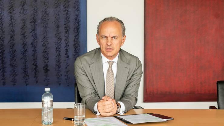 Roberto Belci, der neue starke Mann der Credit Suisse im Aargau nach der angekündigten Schliessung der CS-Tochter Neue Aargauer Bank (NAB).