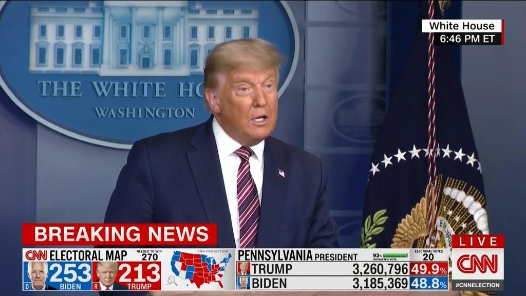 «Lügen, Lügen, Lügen!»: Mehrere TV-Sender korrigieren Trump