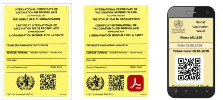 Smart yellow card: Ein digitaler Covid-Impfausweis könnte zum steten Reise-Begleiter werden.