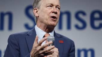 Hatte zuletzt Probleme, Spenden einzutreiben: der demokratische Präsidentschaftsanwärter John Hickenlooper aus Colorado. (Archivbild)