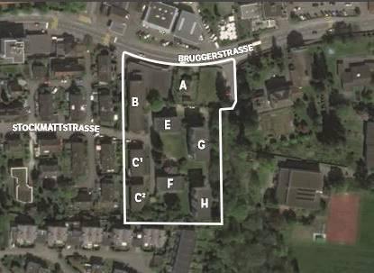 Der Gestaltungsplan «Im Ifang» wurde in den letzten Jahren überarbeitet und um vier Parzellen einer Erbengemeinschaft mit den Wohnhäusern (E-H) erweitert. Die Gesamtfläche ist nun doppelt so gross.
