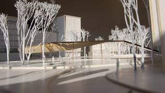Im Modell: Der künftige Stadtplatz in Schlieren.  zvg