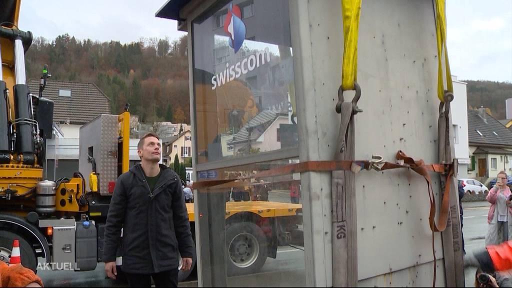 Baden: Swisscom baute letzte Telefonkabine ab