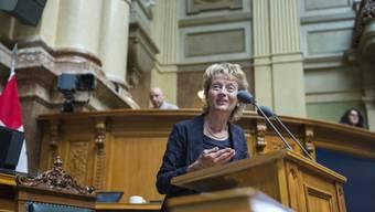 Bundesrätin Eveline Widmer-Schlumpf äussert sich zur Bankendebatte