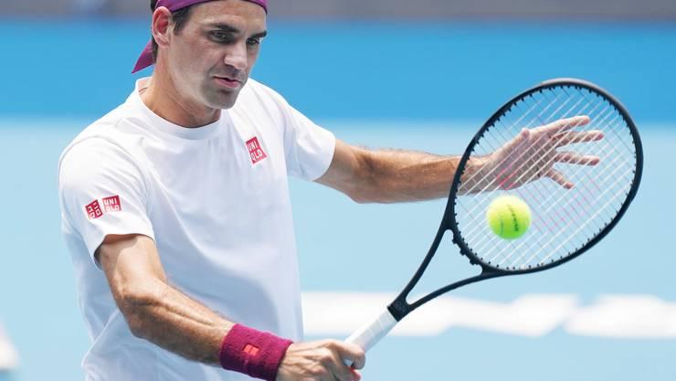 Roger Federer trainiert seit Ende der letzten Woche in Melbourne.