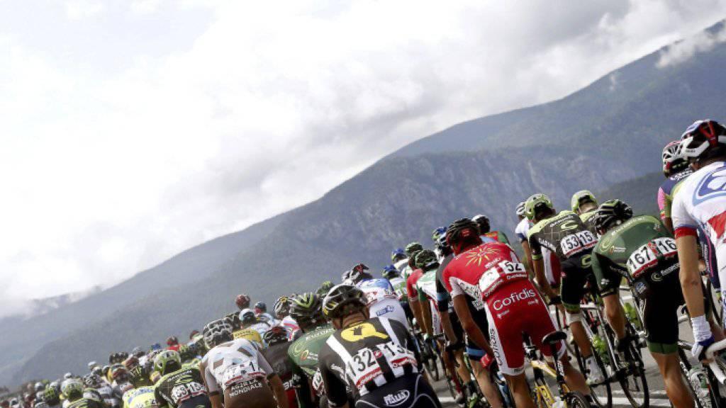 Das Feld der Vuelta auf dem Weg in Richtung Lleida