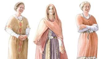 So könnten die Rodersdörflerinnen im 7. Jahrhundert ausgesehen haben.