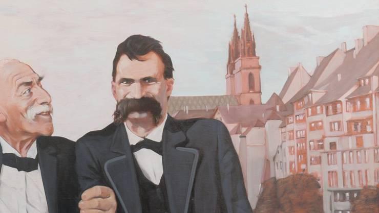 250 x 330 cm; Öl auf Leinwand Eine Kammer der Basler Short Stories ist Friedrich Nietzsche gewidmet