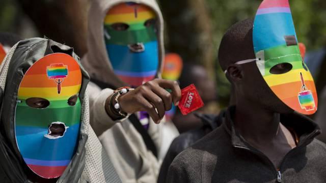 Kenianische Aktivisten für Schwulen- und Lesbenrechte (Archivbild)