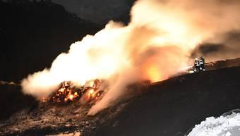 Der Schwelbrand in Schaan entwickelte viel Rauch, richtete aber keinen Schaden an.