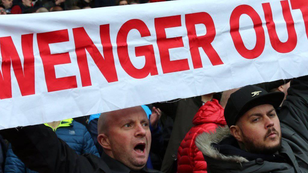 Schwierige Zeiten: Arsène Wenger geniesst bei den Arsenal-Fans nicht mehr viel Support