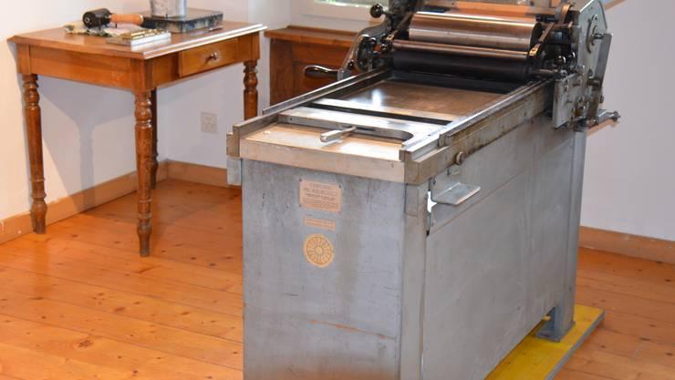 Alte Druckmaschine