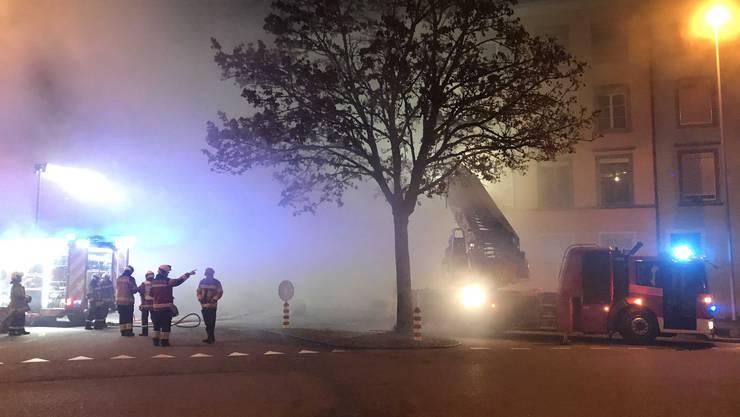 In einem Mehrfamilienhaus an der Wengistrasse 40 in Solothurn brannte es in der Nacht auf Montag, 26.November 2018.