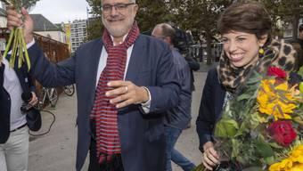 Rot-Grün in aussichtsreicher Position: Carlo Sommaruga (SP) und Lisa Mazzone (Grüne) erzielten am Sonntag die besten Resultate. Die Rechte in Genf ist zerstritten.