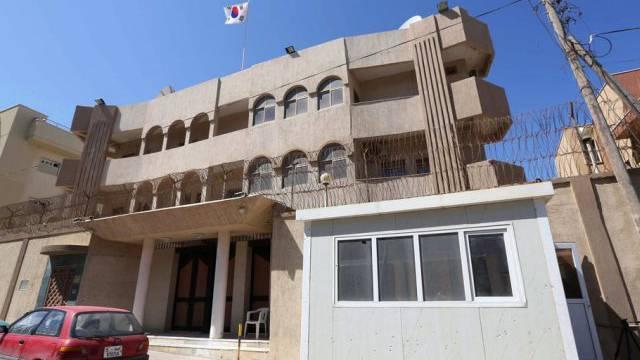 Blick auf die Botschaft Südkoreas in Tripolis