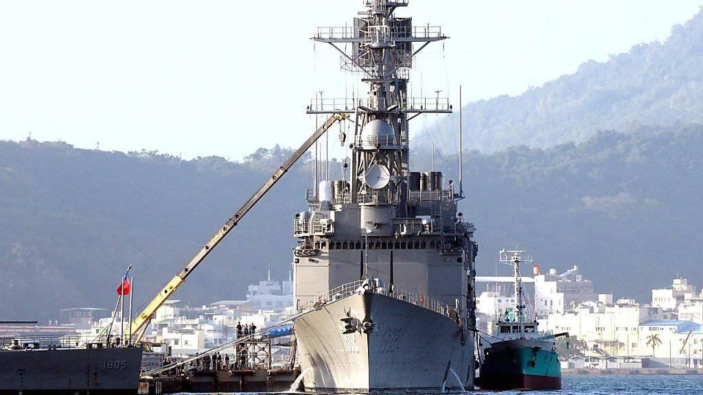 Kriegsschiff Taiwans im Süden des Landes: Das Land erhält erstmals nach vier Jahren wieder Waffensysteme aus den USA, unter anderem zwei Fregatten. (Archivbild)