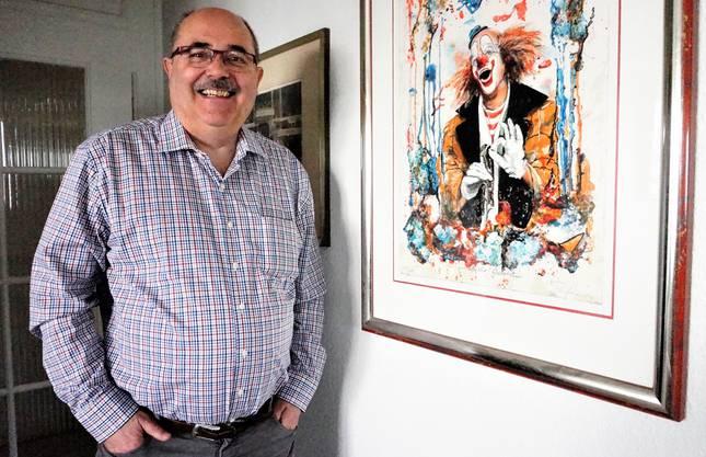 Auch das Bild von Circusclown Walter Galetti hängt in Reichles Wohnung.
