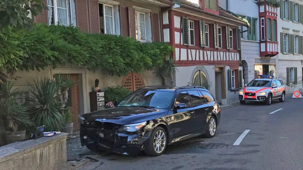 Beim Unfall in Berlingen wurden vier Personen leicht verletzt.