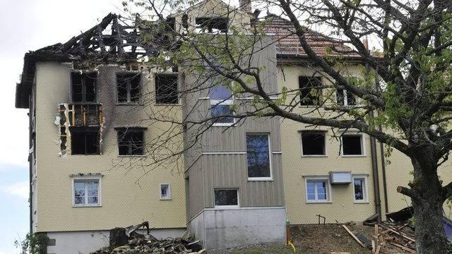 Der Sachschaden beträgt rund 750'000 Franken: Jugendliche legten den Brand (Archiv)