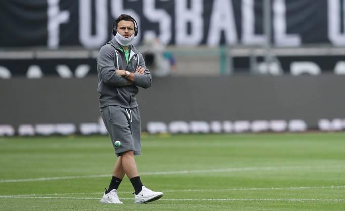 Fussball in Zeiten von Corona: Renato Steffen vor dem Bundesligaspiel gegen Borussia Mönchengladbach.