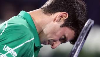 Den Kopf gerade noch aus der Schlinge gezogen: Novak Djokovic wehrte in Dubai gegen Gaël Monfils drei Matchbälle ab und zog in den Final ein