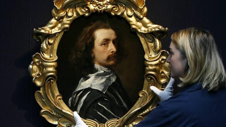 Selbstporträt von Antoon van Dyck an einer Auktion bei Sotheby's in London im Dezember 2009 (Symbolbild).