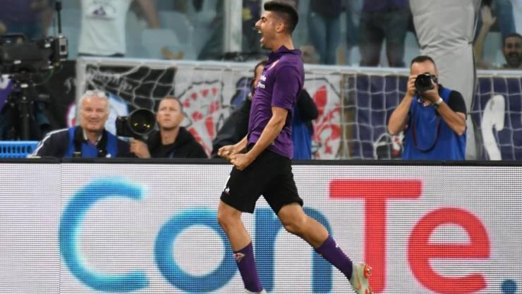 Fiorentinas Marco Benassi nach seinem Siegestor gegen Udinese