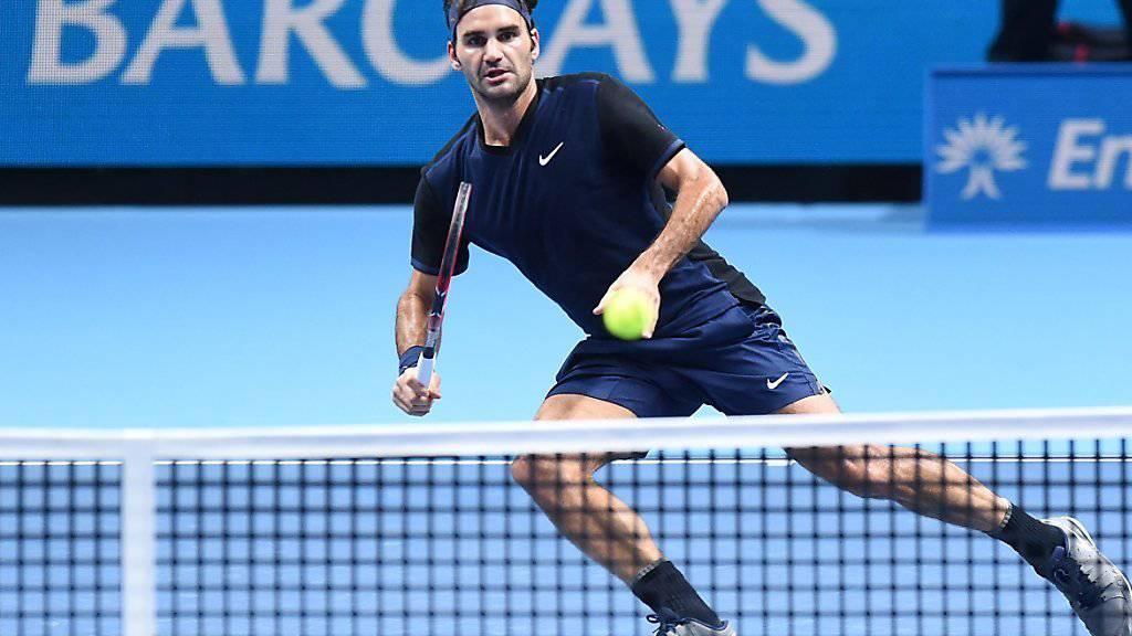 Ganz schön unter Druck: Roger Federer musste gegen Kei Nishikori über zwei Stunden um den Sieg kämpfen