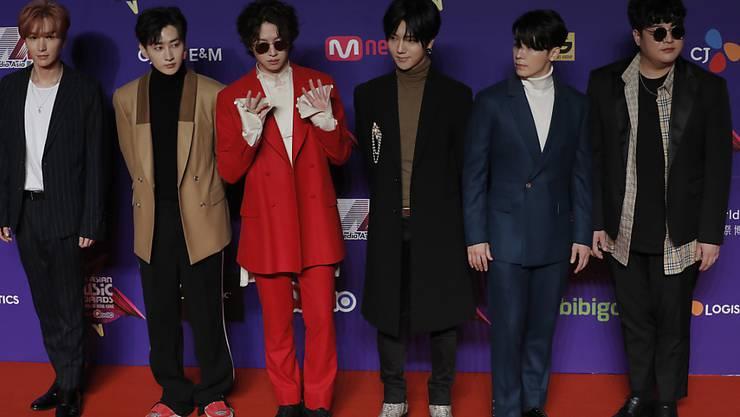"""Die südkoreanische Band """"Super Junior"""", Stars des K-Pop in Südkorea (Archiv)"""