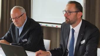 Der Präsident von Swissmechanic Solothurn, Philippe Nicotera (rechts), konnte über eine erfreuliche Entwicklung berichten.