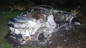 Der Audi TT nach dem Brand