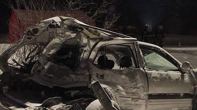 Der betroffene Personenwagen erlitt Totalschaden