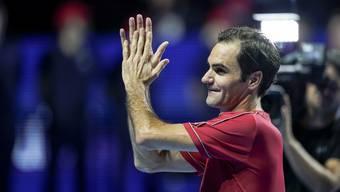 Roger Federer ist nach seinem Sieg überglücklich und überrascht.