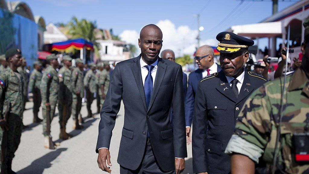 Haitis Präsident Jovenel Moise mobilisierte die Armee am Freitag offiziell und seither gibt es vielerorts Proteste gegen das Wiedererstarken des Militärs.
