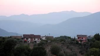 Abendstimmung über den Abbruzzen - von Isernia aus gesehen.