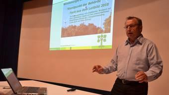 Der Beinwiler Gemeinderat Bruno Sidler zeigt die Haltung der Gemeinde und die Stimmung im Dorf auf.