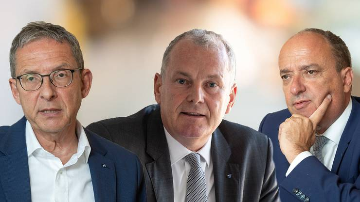 Die Aargauer Regierungsräte Urs Hofmann, Stephan Attiger und Markus Dieth erlebten die Corona-Erkrankung sehr unterschiedlich.