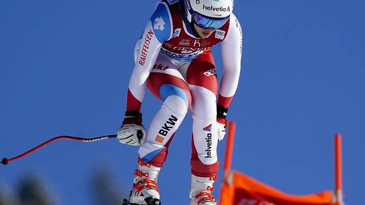 Michelle Gisin verlor im Abschlusstraining zu den Weltcup-Abfahrten in Lake Louise gut eine Sekunde auf die Bestzeit