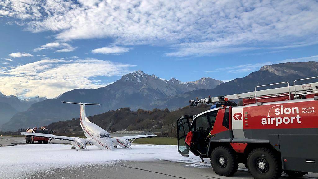 Flugzeug entgeht Katastrophe mit Notlandung in Sitten